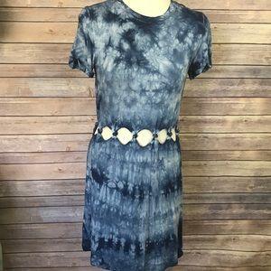 American Eagle Blue Tie Dye Cut Out Dress Size S